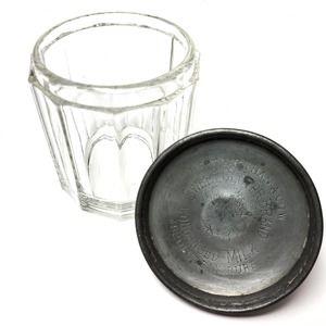 Vintage Condensed Milk Glass & Metal Container